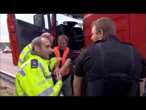 Truck Driver Getting a Ticket from Police