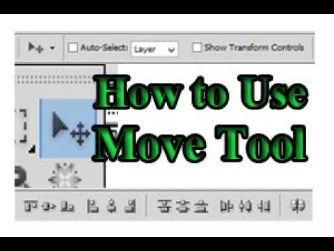 How to Use Move Tool in Photoshop CS5 Part 1
