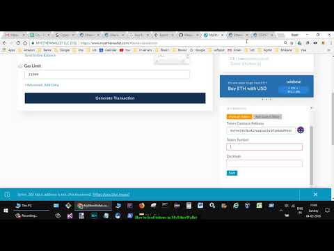 How to load tokens in MyEtherWallet
