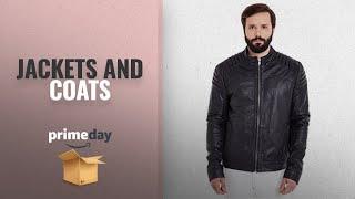 Men Fashion Jackets And Coats Prime Day 2018: MAGOCCI Men Black Leather Jacket
