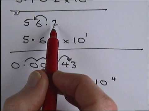 How to write numbers in standard form.wmv