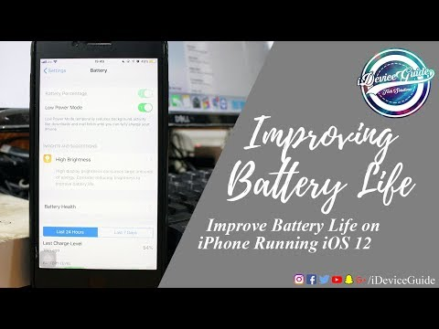 How to Improve Battery Life on iPhone Running iOS 12
