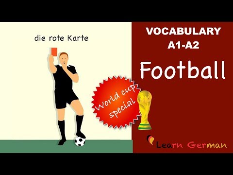 Learn German | German Vocabulary | WORLD CUP SPECIAL | Fußball | Football | A1 | A2