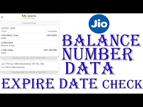 How to Check Reliance Jio Balance, Number,Validity