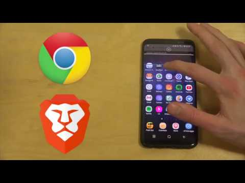Brave Browser vs. Google Chrome Browser Samsung Galaxy S8 Android Speed Test Review!