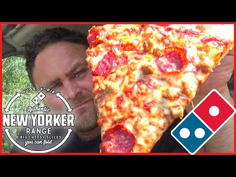 Domino's New Yorker Pizza Review - Australia's First Review 🍕 big cheese, pepperoni & sausage.