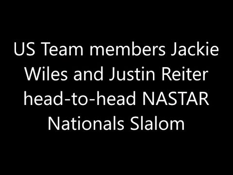 Jackie Wiles vs Justin Reiter - NASTAR Nationals Slalom pacesetting