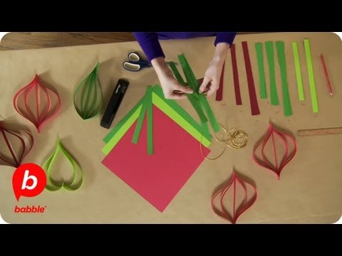 How to Make Christmas Paper Ornament Decorations | Crafts | Babble