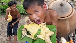 Download Cooking chicken in forest and eating Video