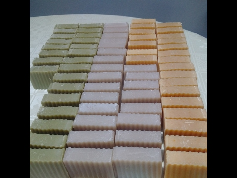 Cold process Lavender Soap- making and cutting by Natural