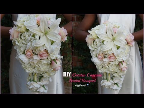 DIY Garden Cascading Bridal Wedding Bouquet | DIY Wedding Bouquet | DIY Tutorial