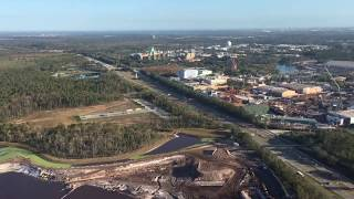 Aerial Flyover of Disney's Hollywood Studios (Star Wars: Galaxy's Edge, Toy Story) December 2017