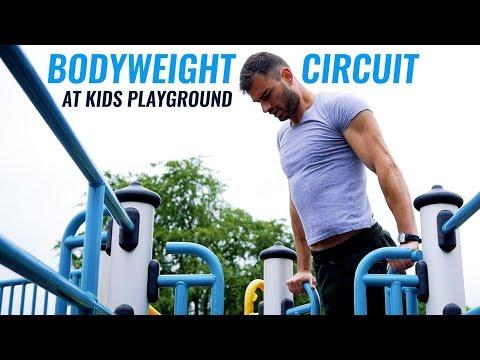 Bodyweight Circuit at Kids Playground