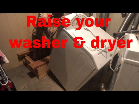 How to build a washer dryer platform: 2017