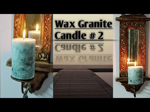 WAX GRANITE CANDLE MAKING TUTORIAL PART 2