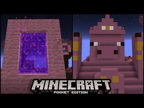 HIDDEN NEW MINECRAFT PE DIMENSION PORTAL 0.16.0 UPDATE |  pigs land dimension minecraft pe ( mcpe )