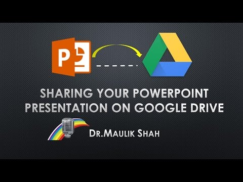 Sharing Power Point (ppt) on google drive
