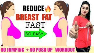 Reduce Breast Fat FAST Naturally🔥 Lose Breast Size in 10 Days | Easy Chest/ Breast Fat Loss Workout