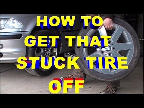 How to Get That Stuck Frozen Rusted Tire Off during Winter to Summer Tire Change.