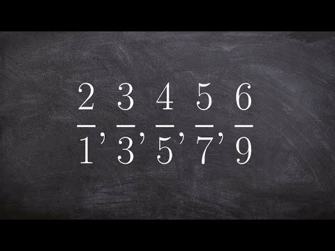 Learn how to write the formula for a sequence of fractions