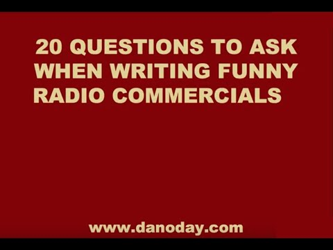 HOW TO WRITE FUNNY RADIO COMMERCIALS