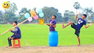 New Top Funny Comedy Video 2020__Very Funny Stupid Boys__Episode--107--Indian Fun || ME Tv