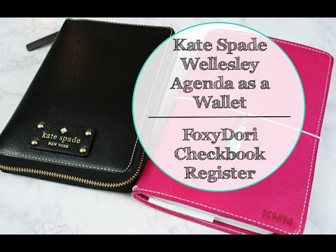 KATE SPADE AGENDA AS WALLET | FOXYDORI CHECKBOOK REGISTER
