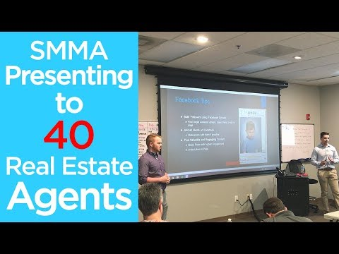 SMMA Presenting to 40 Real Estate Agents | How to Make Money with Social Media Marketing
