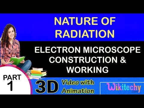 Electron microscope construction and working|Nature of Radiation | JEE Main and Advanced physics