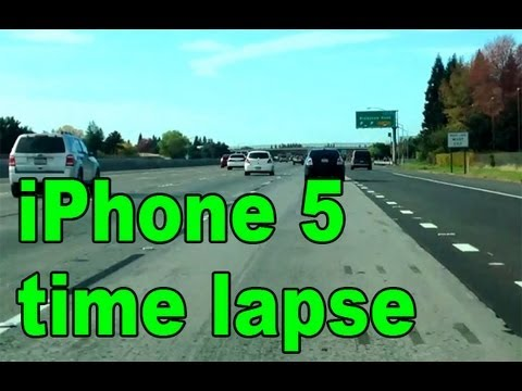 iPhone 5 1080P Driving Time Lapse