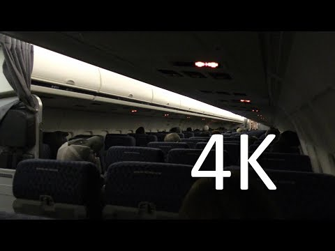 (4K) AA MD-80 from IAH to DFW (Houston to Dallas) at night--Plane Trip Video