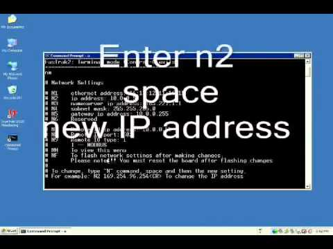 How to change your DOS TCP/IP Address Flash 5