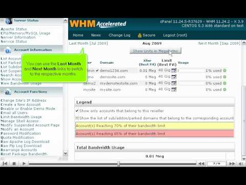 How to view bandwidth usage by account in WHM - WHM Tutorials