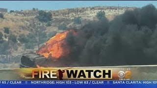 Red Flag Warning In Effect As Firefighters Mop Up Santa Clarita Brush Fire