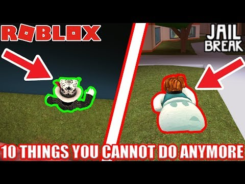 10 Things you CANNOT DO ANYMORE in Roblox Jailbreak