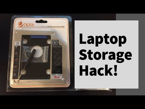 Laptop storage hack  - how to add more drives