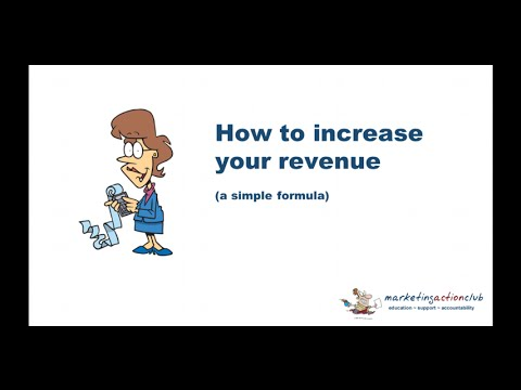 How to increase revenue in your small business - a formula