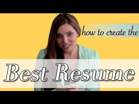 Get Noticed | How to Write a Creative Resume
