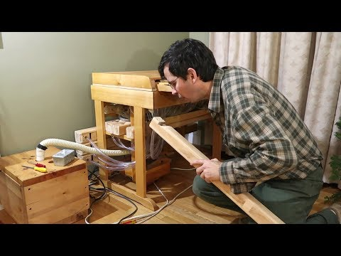 Fixing one of the pipes of my homemade pipe organ