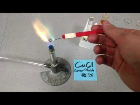 Qualitative Flame Test - CuCl Copper Chloride