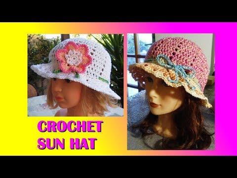 CROCHET SUN HAT ANY SIZE TUTORIAL