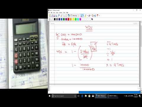Depreciation calculator tricks(WDV METHOD)
