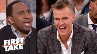 Stephen A. calls Max a traitor for Kristaps Porzingis take | First Take