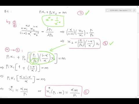 Lecture 1 - Marshalian Demand   and  Indirect Utility Function