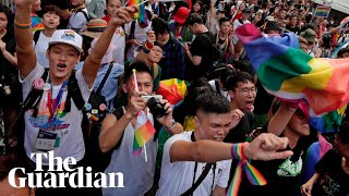 Celebrations as Taiwan becomes first in Asia to legalise same-sex marriage