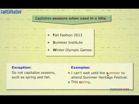 Grammar Video for Kids: Capitalizing Days of The Week