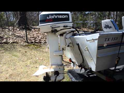 1992 Johnson 25hp Electric start Outboard Boat Motor