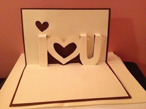 Pop Up Cards - I Love You Pop Up Card