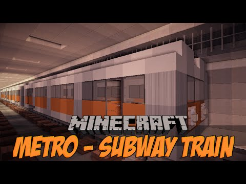 Minecraft Vehicle Tutorial Series - How To Build A Subway Train
