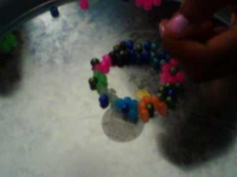 Flower Bead Cuff Bracelet Tutorial